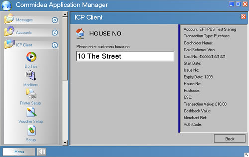 icp client - address verification - house number